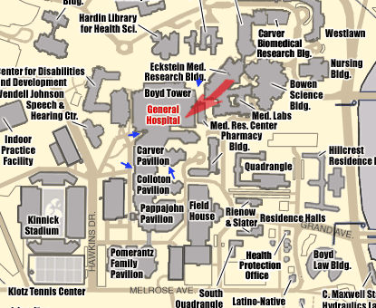 U Of Iowa Map.University Of Iowa Hospital Map Compressportnederland
