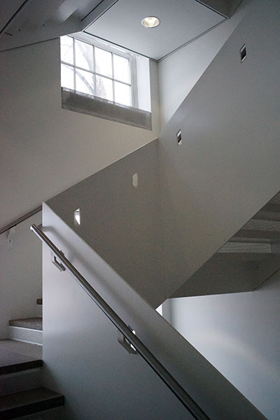 Interior of Stuit Hall staircase
