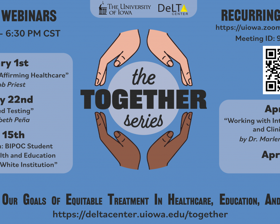 The TOGETHER Series - Bi weekly webinar - Mondays 5:30-6:30 PM CST