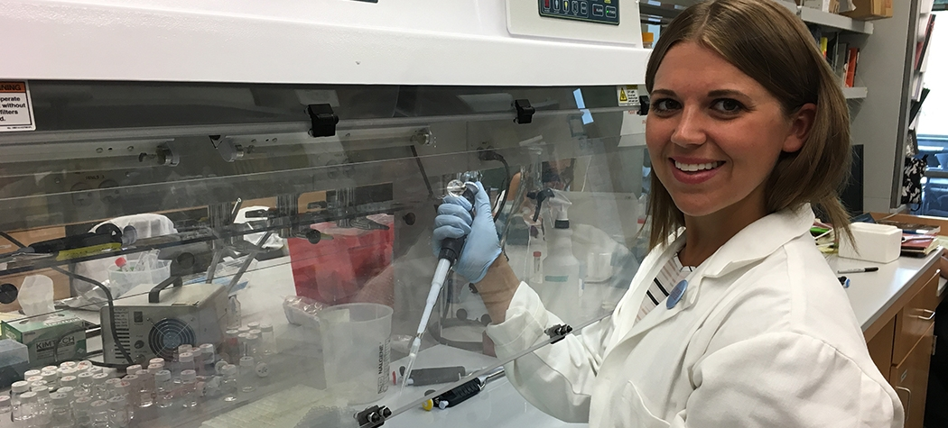 Allison Momany in lab
