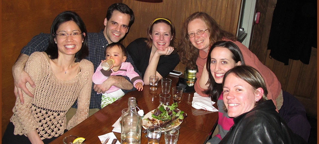 Deanne, Sydney, and Frank Farach; Ashley Gearhardt, Teresa Treat, Blair Wisco, Meg Morean
