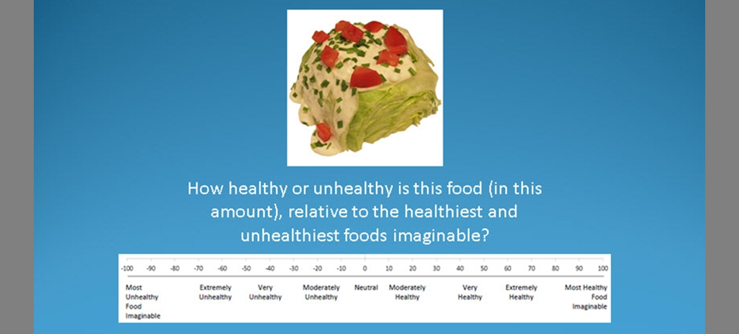 Food Healthiness Ratio-Scale Rating Task
