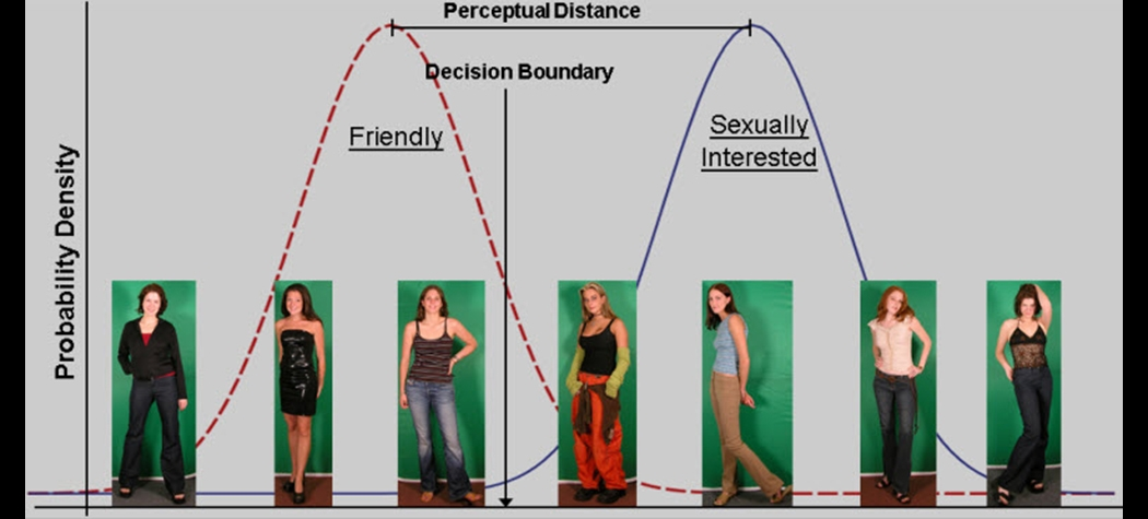 Signal Detection Theory representation of sexual-interest judgments