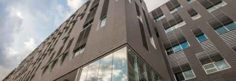 New Psychological and Brain Sciences building from the front