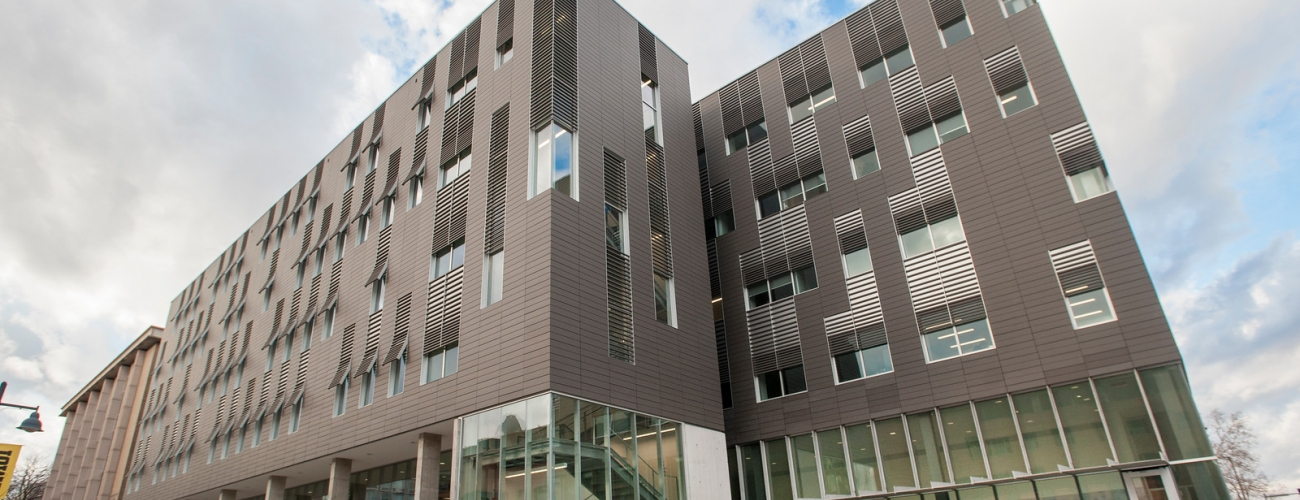 Front of the new Psychological and Brain Sciences Building