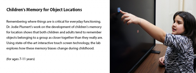 Children's Memory for Object Locations