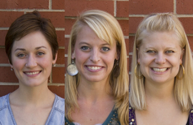 Alexis Elmore, Josie Ullsperger and Rachel Anderson