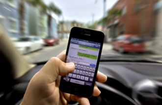 Driver texting