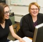 Noreen Jeglum with her mentor Molly Nikolas